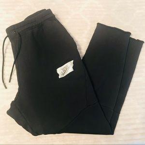 Nike Black Tapered Knit Joggers Sweatpants Large
